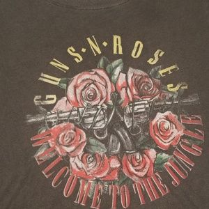 Grey Guns N' Roses t-shirt from Free People